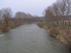 Zdjęcie z mostu rzeki Nysy Kłodzkiej