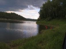 Zbiornik zaporowy Pilchowice koło Jeleniej Góry